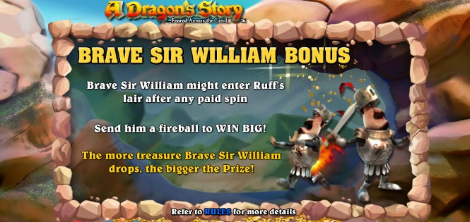 Автомат A Dragon's Story - бонусный тур Brave Sir William