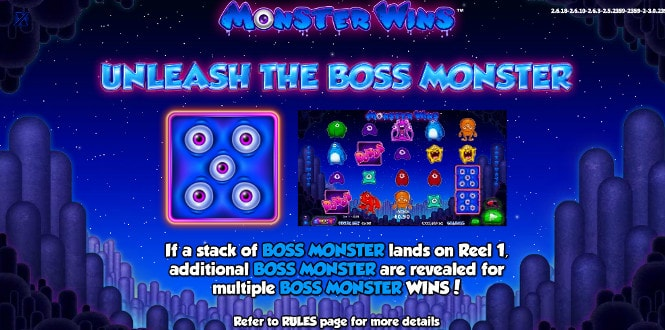 Monster Wins - бонус Unleash The Boss Monster Feature