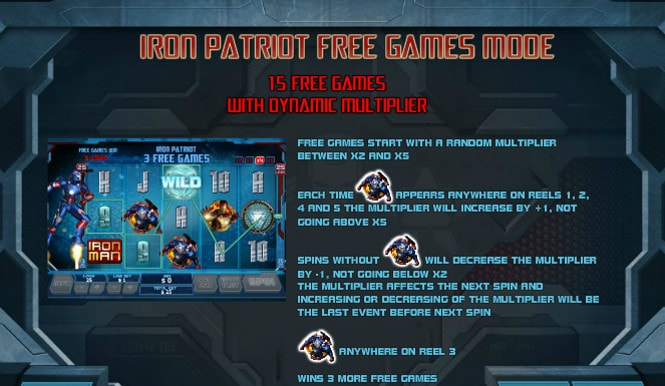 игра Iron Man 3 - бонус Iron Patriot Free Games Mode