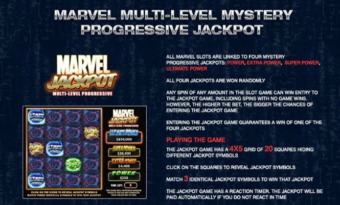 слот люди Икс - Multi-Level Mystery Progressive Jackpot